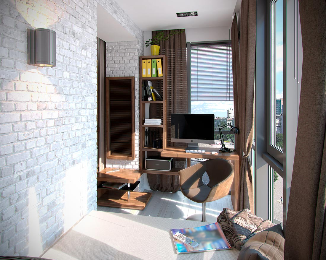 Спальня на балконе 3 метра.