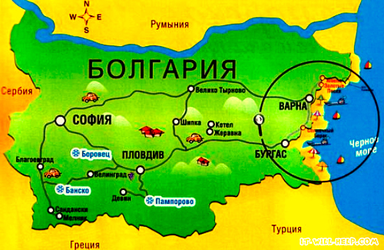 болгарния карта